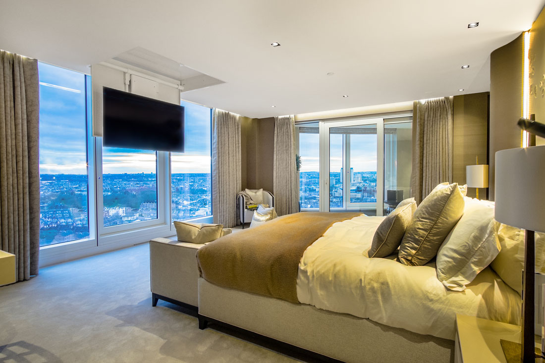 London Penthouse Master Bedroom