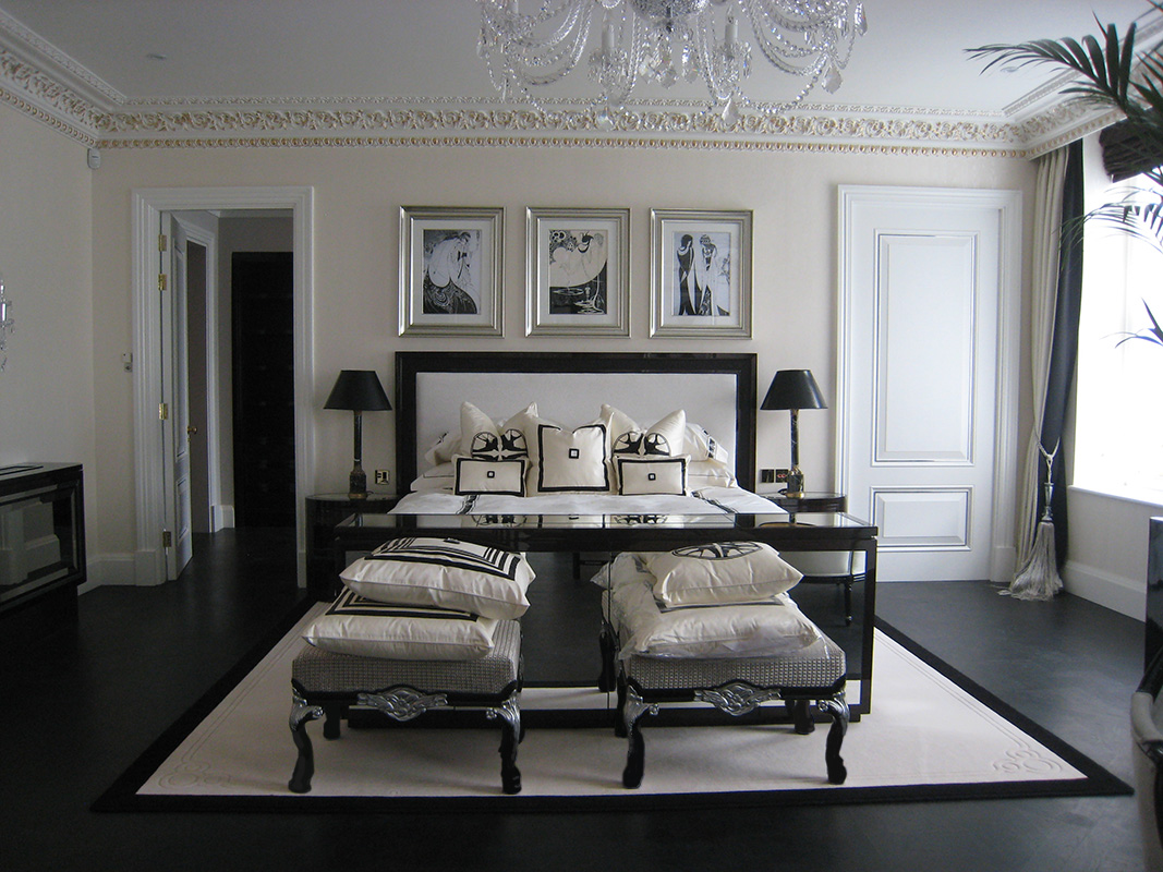 Mayfair mansion bedroom audio visual
