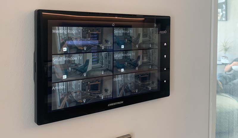 crestron showroom london